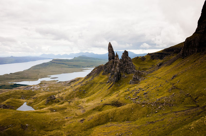 Scenic view of the storr