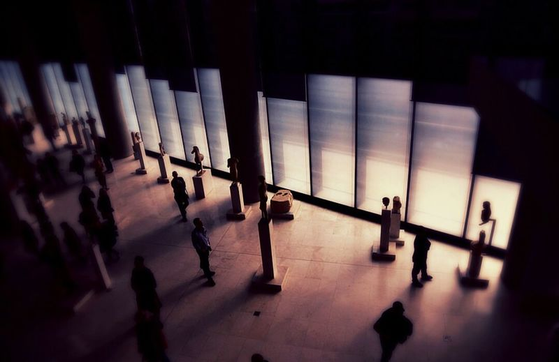 Museum Reflection Art Photography Artistic View CameraMan Filmmaker Director Photographer Photoshoot Nature Shadows Ancient LINE Visitors Artistsoninstagram Greece Daylight Color Law Architecture Indoors  Built Structure Day Justice - Concept People City The Graphic City Mobility In Mega Cities