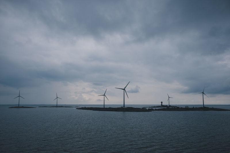 Aland Islands Baltic Ferry Finland Nature Nature Photography Rain Wind Turbine Europe Horizon North Outdoors Road Trip Sea Ship Vessel