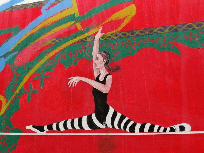 Streetart Asilah Funambulist Funambule Maroc