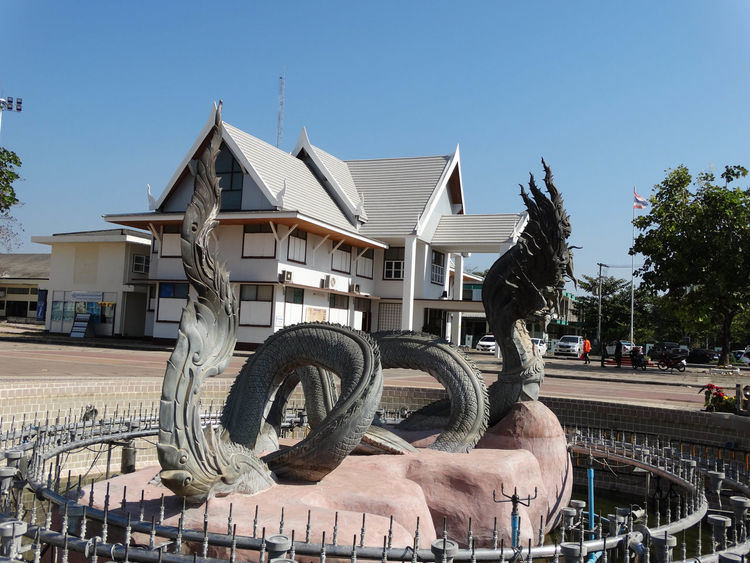 NongKhai,ThaiLand Animal Themes Architecture Building Exterior Built Structure Clear Sky Day Mammal Nature No People Outdoors Sky Tree