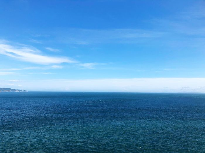Sea Water Scenics - Nature Sky Horizon Over Water Horizon Tranquil Scene Blue Beauty In Nature Nature No People Day Non-urban Scene Outdoors Seascape Waterfront Cloud - Sky