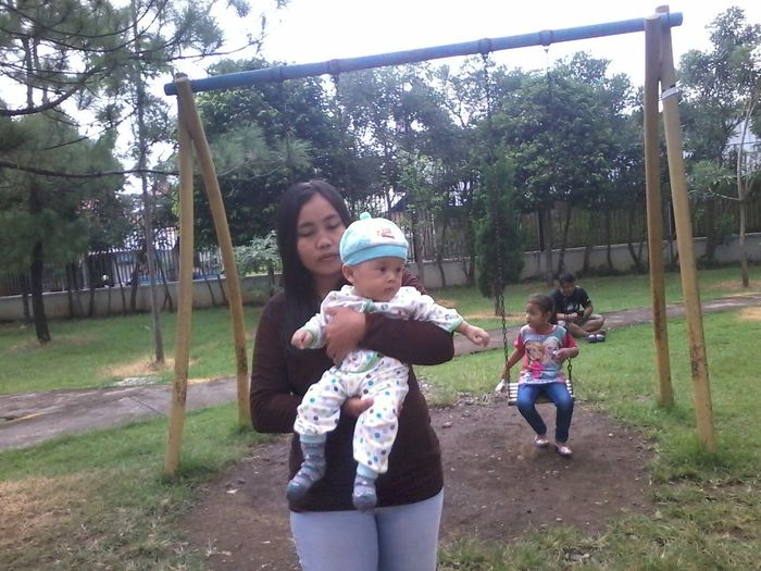 Done That. Baby Togetherness Mother Three People Childhood Happiness Family With One Child People Adult Playing Bonding Full Length Females Child Outdoors Mid Adult Day Fun Enjoyment Smiling Connected By Travel