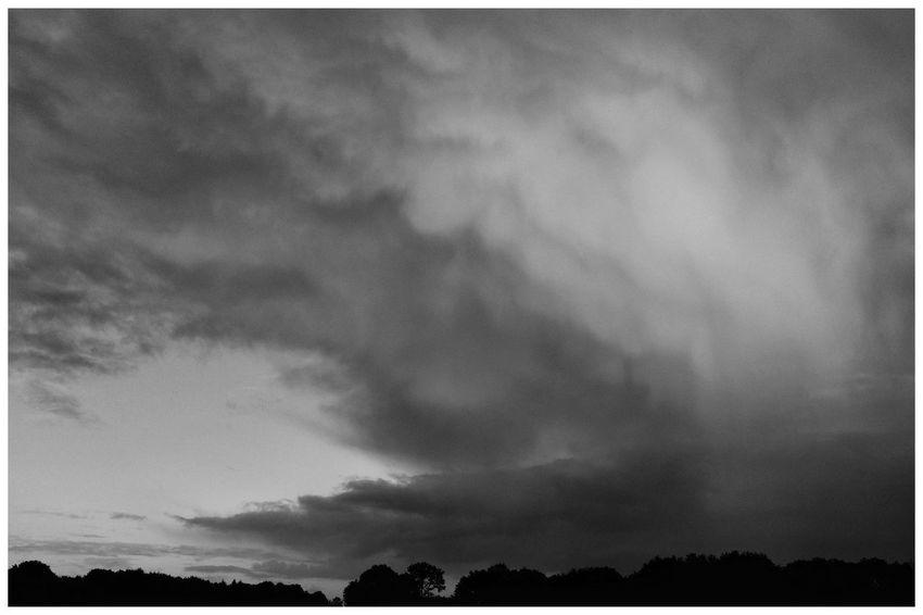 Blackandwhite Blackandwhite Photography Blackandwhitephotography Black And White Black And White Photography EyeEm Best Shots - Black + White Tree Silhouette Storm Cloud Sky Cloud - Sky Dramatic Sky Countryside Atmospheric Mood Cloudscape