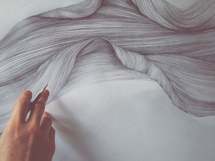 Long time no 'Em... Light And Shadow ArtWork Drawing Artist Hands At Work Vscocam