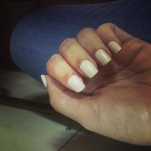 Allwhite Mani Looksliketipex Nails