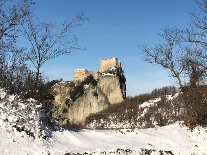Italy San Leo IPhoneX IPhone IPhoneography Bare Tree Winter Day Nature Tree Cold Temperature No People Beauty In Nature Snow Architecture Clear Sky Outdoors Built Structure Sky