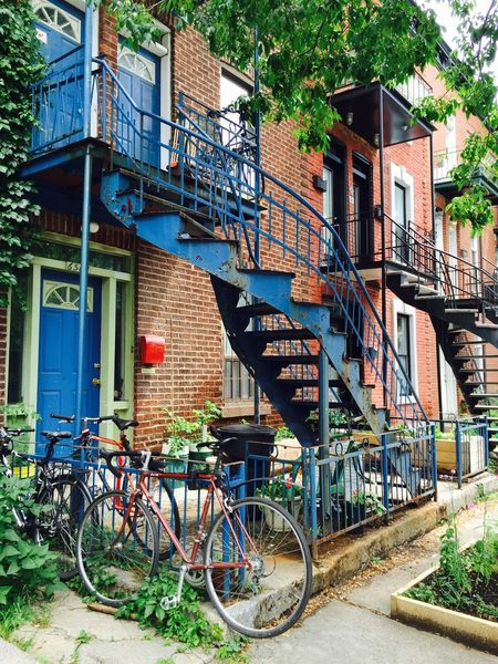 Bicycle Building Exterior Architecture Built Structure Transportation Mode Of Transport Tree City Outdoors Land Vehicle No People Stationary Day Montreal, Canada