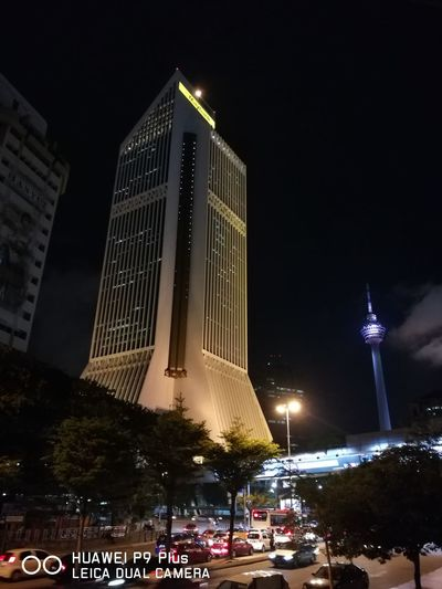 Standing tall and strong City Skyscraper Night Illuminated Modern City Life Architecture Nightlife Outdoors Unedited Unedited Photo EyeEm Gallery Photography No Filter, No Edit, Just Photography Tranquility Kualalumpur urban