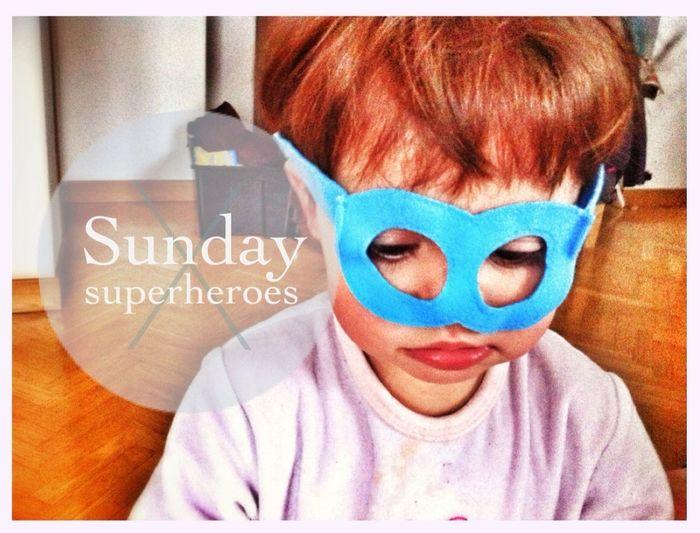 Mask Children Playing Sunday Superheroes