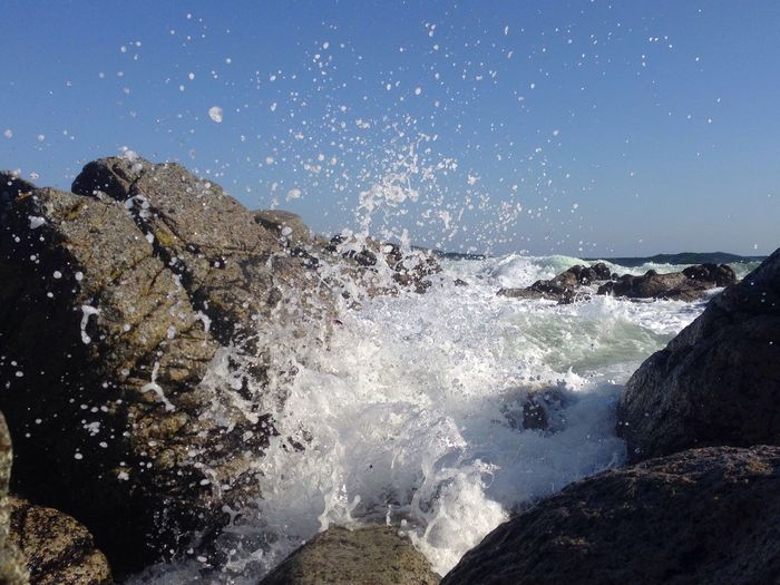 Splash On The Rock Bornholm Wind&waves Denmark Island living
