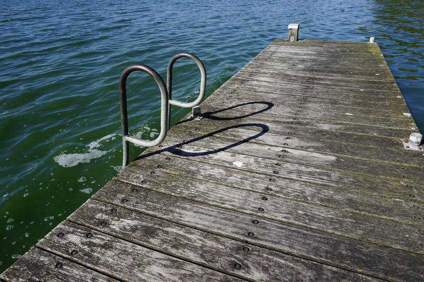 Dive in... Absence Day High Angle View Lake Metal Nature No People Outdoors Shadow Swimming Pool Water
