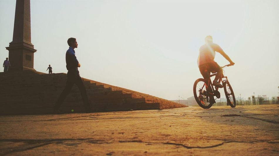 Ride a bike to fight sadness!! Sports Sports In The City Photography Taking Photos Eye4photography  Light And Shadow Enjoying Life People Photography EyeEm Best Shots Check This Out Relaxing People Around You Morning Light Sunrise India Bestoftheday Silhouette What I Value Bicycle Ride Sports Photography City Life Sport In The City