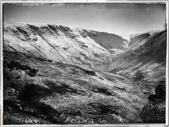 Transfer Print Auto Post Production Filter Mountain Tranquil Scene Scenics Tranquility Mountain Range Nature Sky Non-urban Scene Beauty In Nature Outdoors Physical Geography Remote Geology Day Majestic Horizon Over Land Tourism Rocky Monochrome