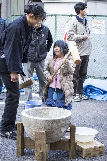 Bonding Cultures Day Japan Japanese Culture Japanese Food Matsuri Mochi Outdoors Togetherness