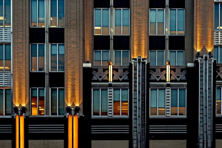Architecture Built Structure Building Exterior No People Outdoors City Niagara Mohawk Syracuse Ny Power Steel Art Deco Hudson Building Skyscraper Architecture Office Building Windows Shades