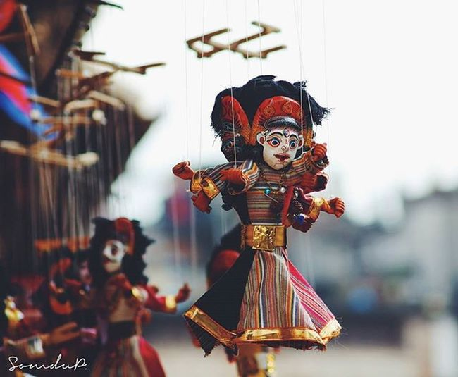 Puppets, Nepali handicraft. Basantapur Pupets Handicraft Photography