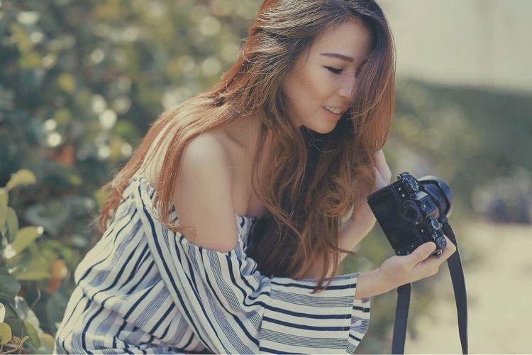 ICA Fujixt10 Camera Model Girl Beauty Woman Fashion Portrait Long Hair Beautiful Woman