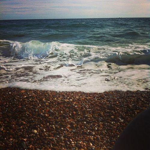 Beach Haylingbeach Waves Sea Funfair Haylingisland