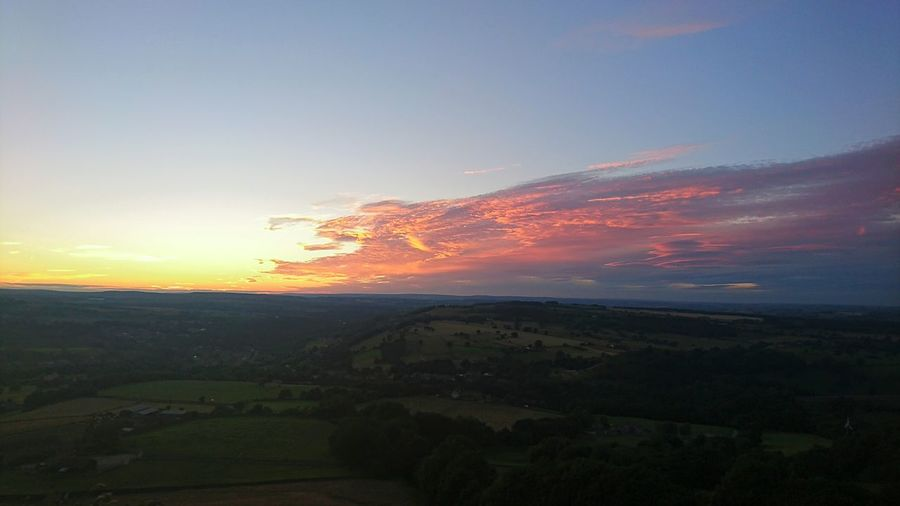 Yorkshire Countryside Field Sunset Sky Colourful Sky Dramatic Sky Landscape Huddersfield