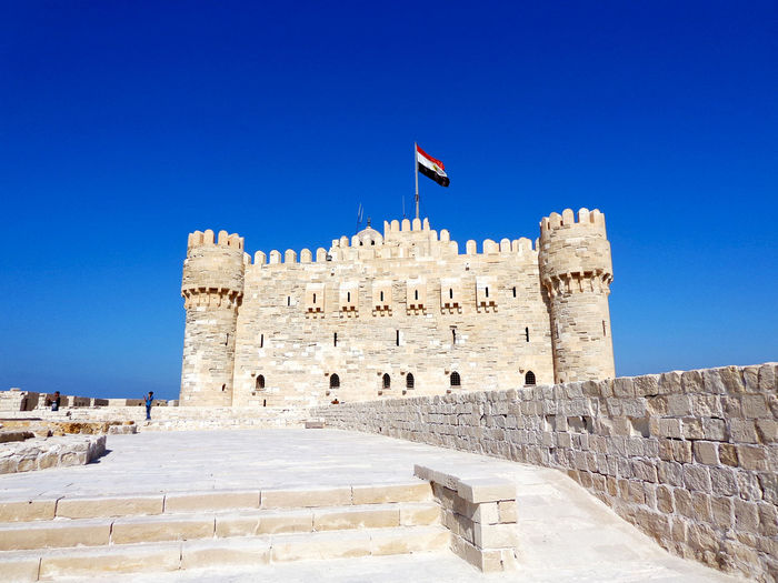 Citadel of qaitbay against clear blue sky