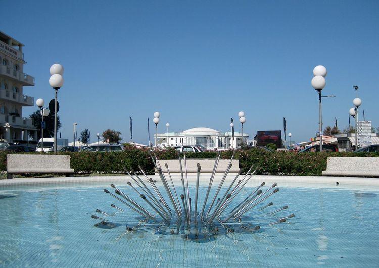 la fontana Architecture Building Exterior City Clear Sky Fountain Outdoors Senigallia Water