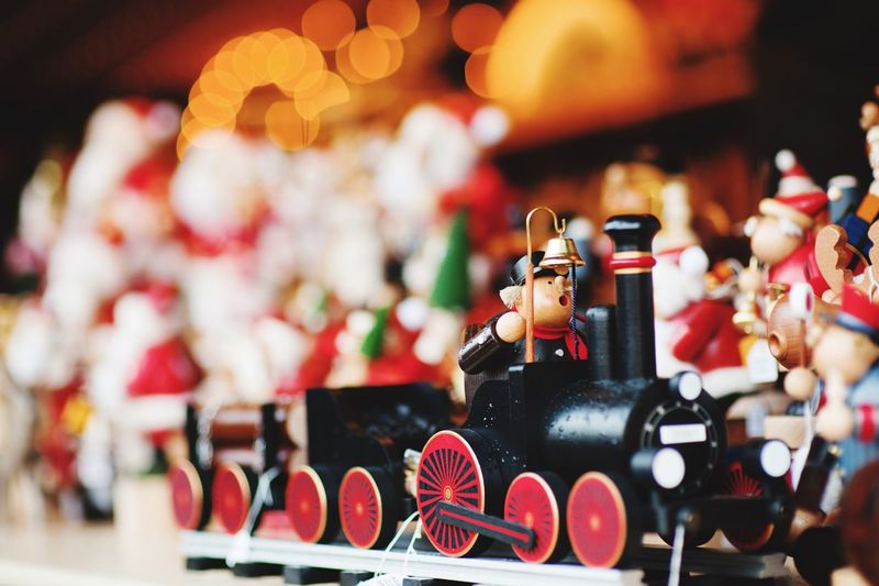 festive Christmas decorations Still Life No People Close-up Indoors  Figurine  Human Representation Representation Large Group Of Objects Toy Focus On Foreground Male Likeness Decoration Art And Craft Creativity Holiday Selective Focus Christmas For Sale Retail  Arrangement
