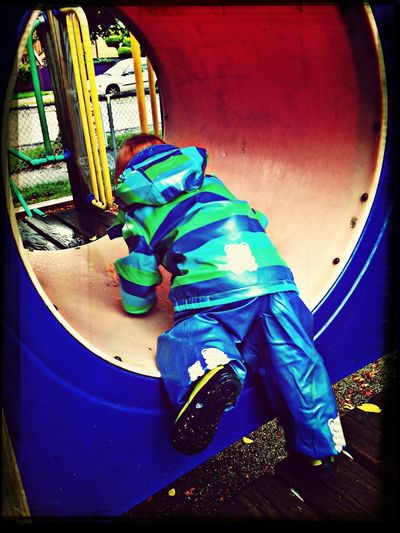 Climbing ob the playground