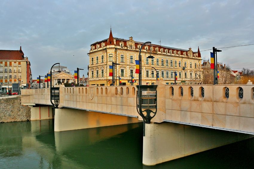 A calm day in a beautiful city. City Cityscape Cloudy Oradea,România Romania Architectural Detail Architecture Bridge - Man Made Structure Building Exterior Built Structure Day Green Water No People Old Buildings Outdoors Romanian Lands Sky Water Waterfront