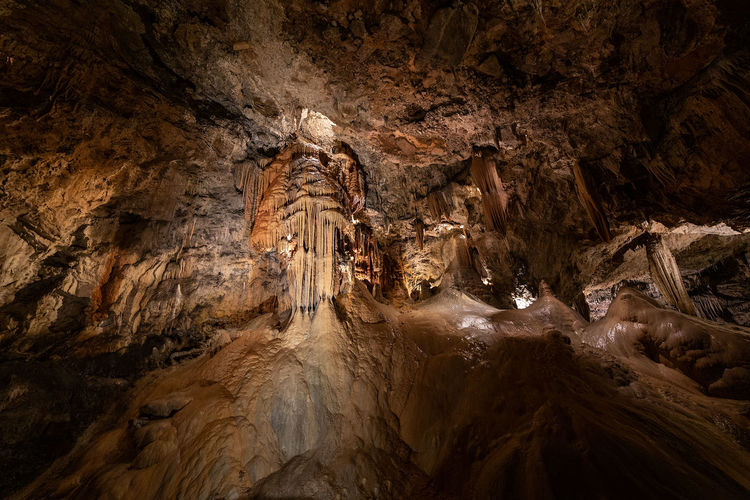 Low angle view of cave