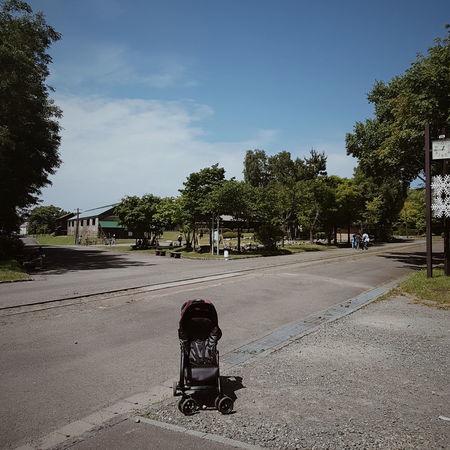 dead town? Stroller Emptiness Clear Sky Summer Day Hokkaido,Japan Sky Day