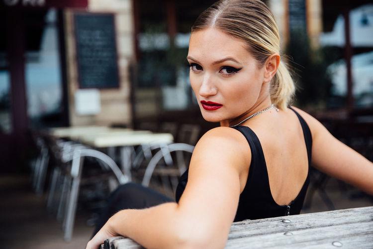 Elegant European Woman Beauty Blonde Bordeaux Classic Elegant Europe Fashion France Gown Portrait Woman