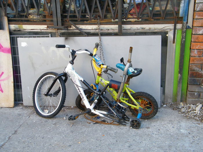 Do not sit on seat! Abandoned Bicycle Bike Artwork Bike Life Hazardous Seat Mode Of Transportation No People Outdoors Parking Stationary