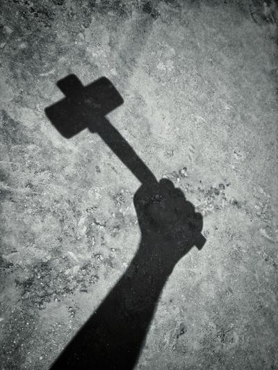 Sledgehammer Hammer Fixing Things Men At Work  Construction Machinery Construction Hardwork Shadow Shaddow And Light Springtime Human Hand Shadow Sunlight Holding High Angle View Focus On Shadow Tool Hand Tool