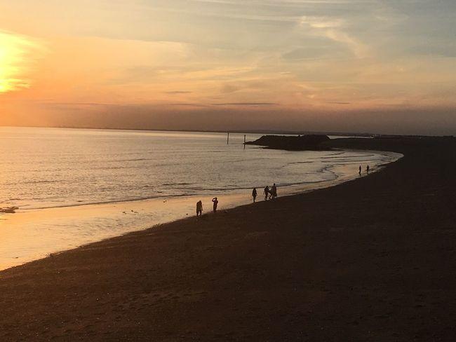 Beach Sea Sunset Sand Tranquility Tranquil Scene Shore Nature
