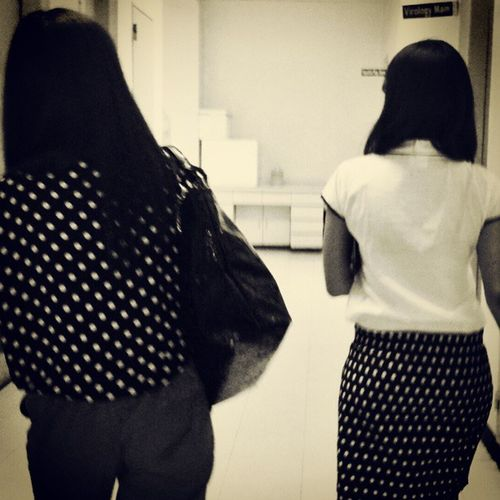 PashionPriday.. Polkadots Matchnamatch Black White igers instacool