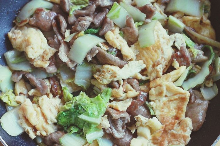 Food Eggs Chinese Cabbage Pork