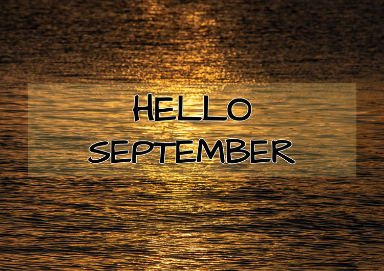 Hello September Background Autumn Fall Beauty Hello September September Golden Waves Sea Waves