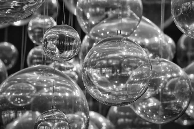 Full frame shot of glass balls