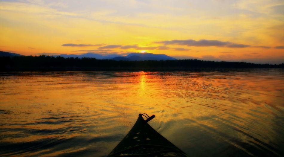 Atmospheric Mood Calm Kayak Kayaking Lake Lake Ossipee Majestic Mount Chocorua New England  New Hampshire Outdoors Reflection Rippled Scenics Serendipity Solitude Summer Camp Sunrise Sunrise_sunsets_aroundworld Tranquil Scene White Mountains