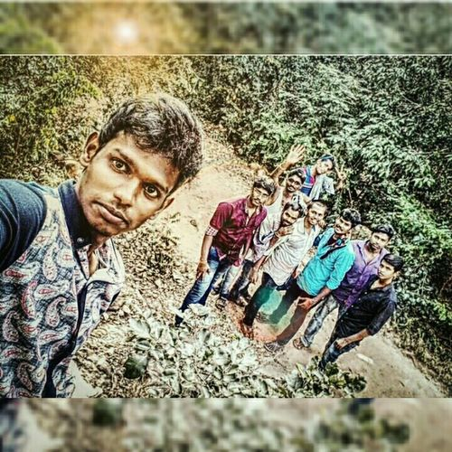 My Student Life @ South India With Classmates Awesome_nature_shots Enjoying Life View @ THADA WATER FALLS A.P IND..