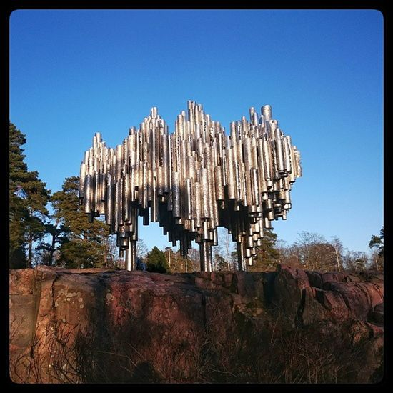 Le Sibelius Sous Un Beau Soleil - Helsinki - 🎼🎨 Sibelius Art Music Monument Helsinki Finland Sun Running Session Erasmus