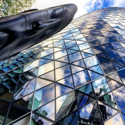 Building Exterior Architecture Glass - Material Low Angle View Built Structure Reflection Day Modern Window Skyscraper Outdoors City Sky No People Close-up EyeEm Best Edits Eye4photography  Picoftheday The Week Of Eyeem EyeEmBestPics EyeEm Best Shots EyeEm Best Shots - Nature Eyeemphotography Oziref London