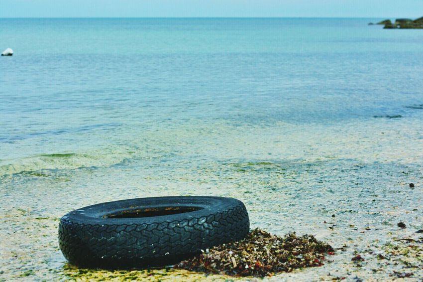 Sad Pollution Black Tyre