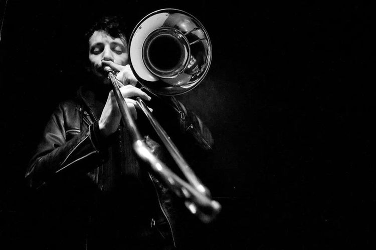Trombone Blackandwhite Light And Shadow Monochrome