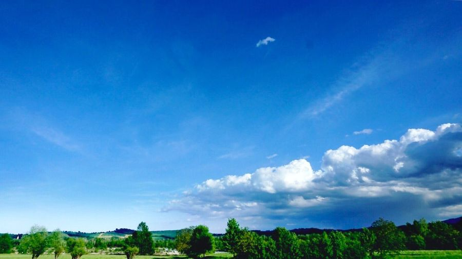 Nature Scenics Tranquility Blue Beauty In Nature Tree No People Day Sky Tranquil Scene Landscape Outdoors Parma Italy Clouds Cloudy Blue Sky Green Hills Country Countryside Tuscany Emiliaromagna Green Nature Nature Photography The Great Outdoors - 2017 EyeEm Awards