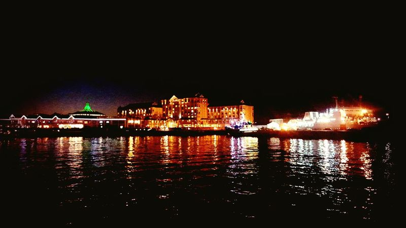 Night Illuminated Water Arts Culture And Entertainment EyeEmNewHere Capetown South Africa Reflection Beautiful