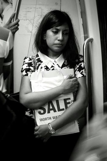 That faraway look. Notes From The Underground Commute Public Transportation Subway Woman Thoughtful