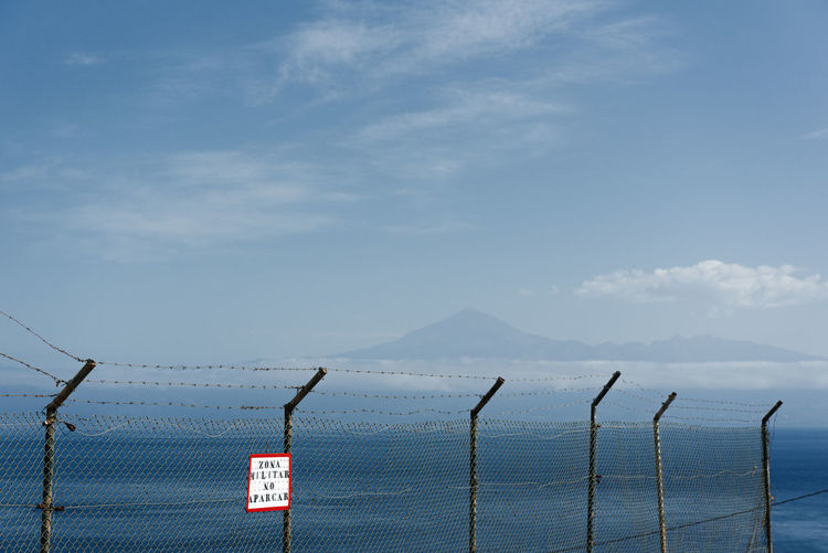 Obstacles Canary Islands El Teide Fence Blue Sky Blue Water Panorama Nature Travel Military Base Perfect Weather Vacations Holidays Linas Was Here