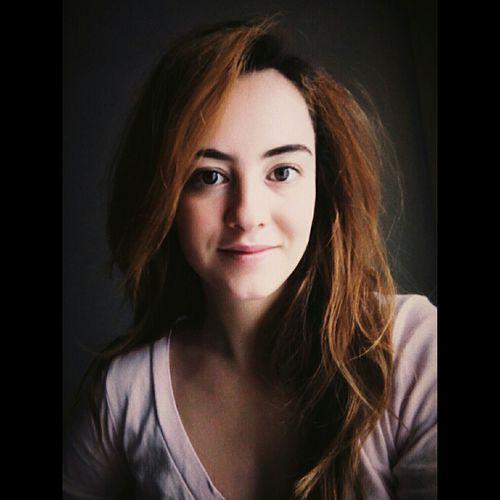 That's Me Girl Hungariangirl Smile Selfie✌ Big Eyes Red Hair Longhair Nomakeup